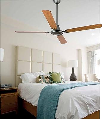color gris MALVINAS Ventilador de techo sin luz Faro Barcelona 33110 acero inyectado y palas de madera ply