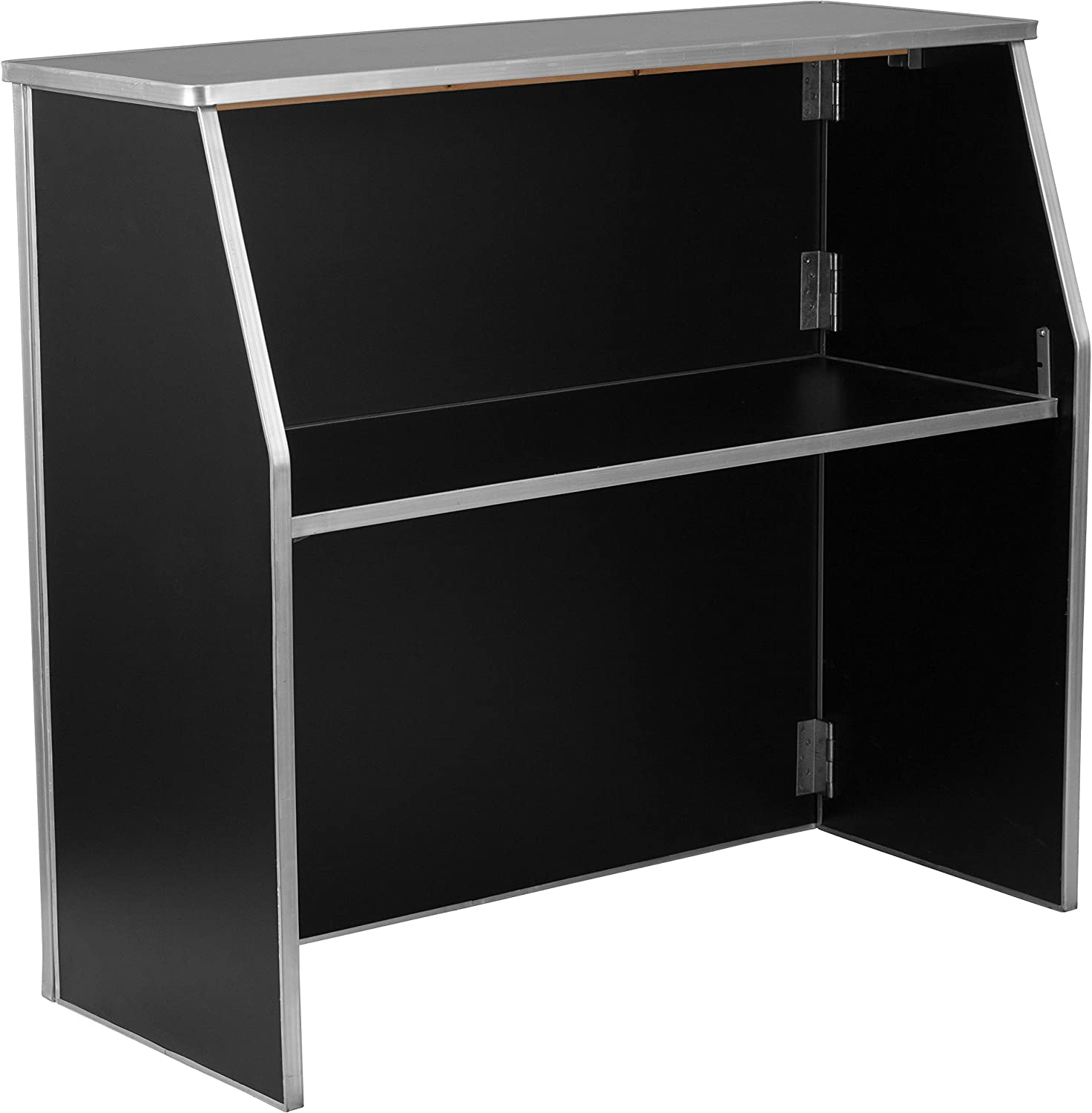 Flash Furniture 4' Black Laminate Foldable Bar