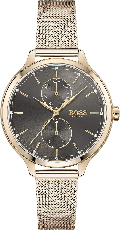 Hugo Boss Reloj Analógico para Mujer de Cuarzo con Correa en Acero Inoxidable 1502536