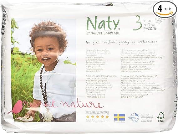 Eco by Naty Babycare Gr/ö/ße 3 31 St/ück Eco Windeln 4/–9 kg