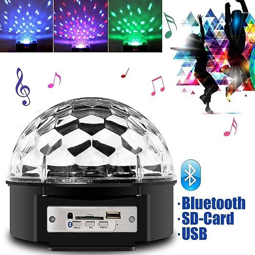 29 opinioni per Besmall 9W Proiettore a Sfera Palla Girevole LED RGB Stroboscopica Bluetooth
