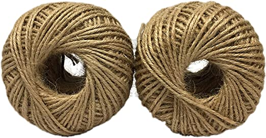 Jute Twine 3mm String Large Ball 2 PackThick 4Ply 680 Feet Total DIY Rope