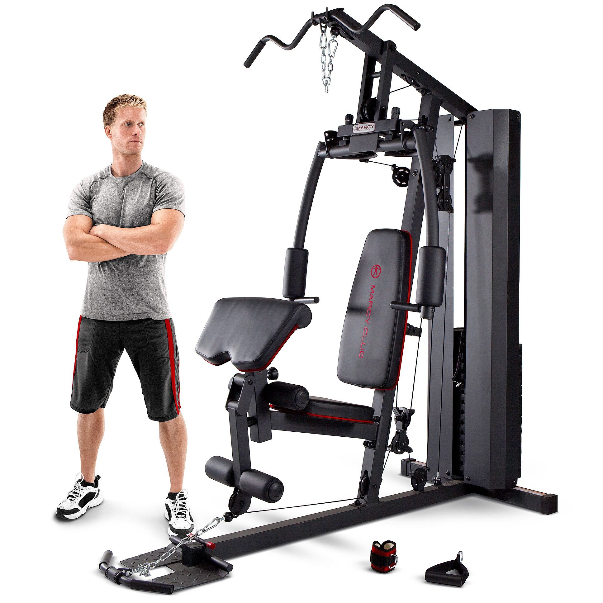 Marcy Mkm 81010 Home Multi Gym With 90 Kg Stack Black