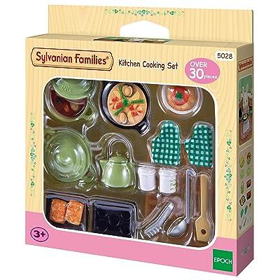 SYLVANIAN FAMILIES- Kitchen Cooking Set Mini Muñecas Y Accesorios, (Epoch para Imaginar 2938): Juguetes y juegos