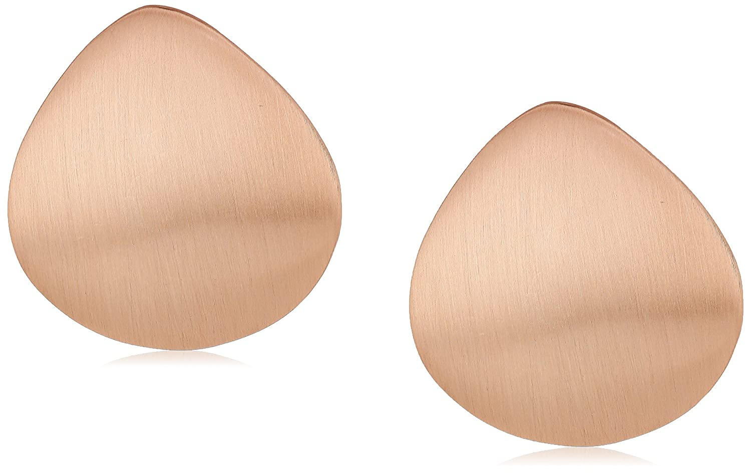 Kenneth Cole New York Supercharged Collection Women's Brushed Rose Gold Clip-On Earrings Kenneth Cole Jewelry K09973-E01