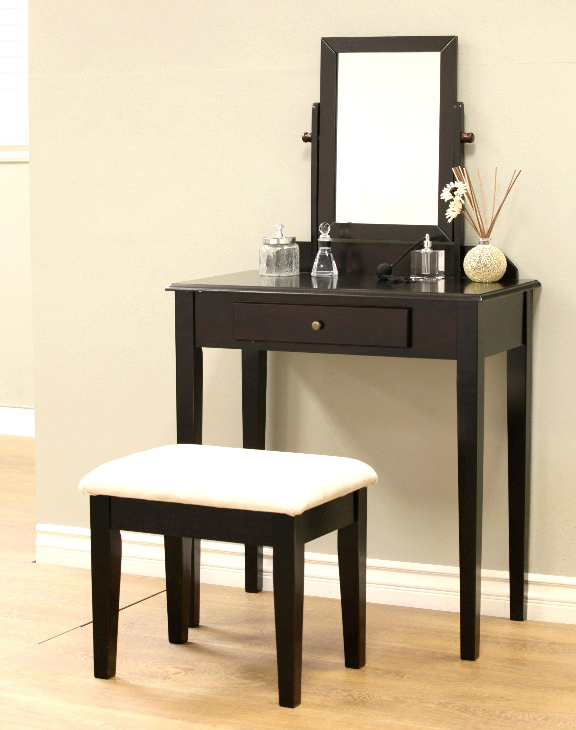 Frenchi Home Furnishing 3 Piece Vanity Set, Espresso Finish, Expresso