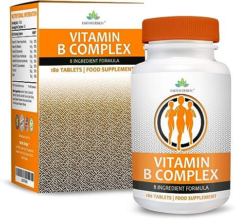 Vitaminas Complejo B - Vit B1 B2 B3 B5 B6 B12 - Con Biotina y ...
