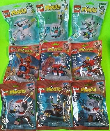 Amazon.com: Complete Set of 9 LEGO Mixels Series 8 (C): Toys & Games