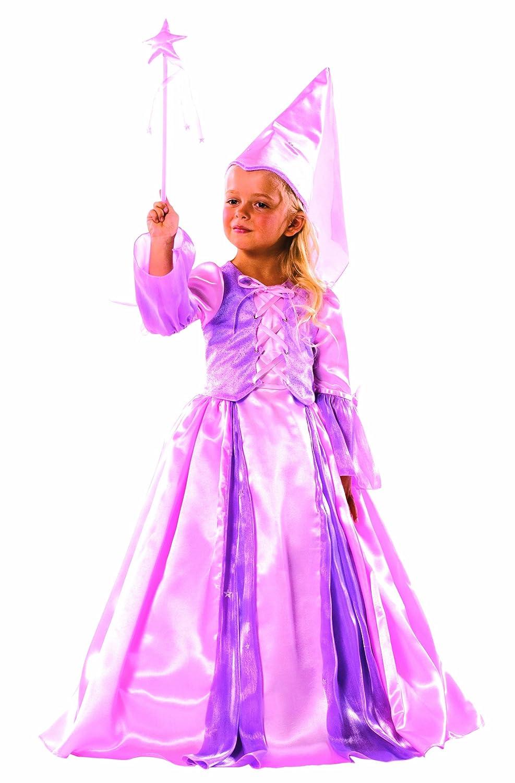 Cesar - B081-002 - Costume - Fée avec Hennin et Baguette - Rose - 5/7 ans