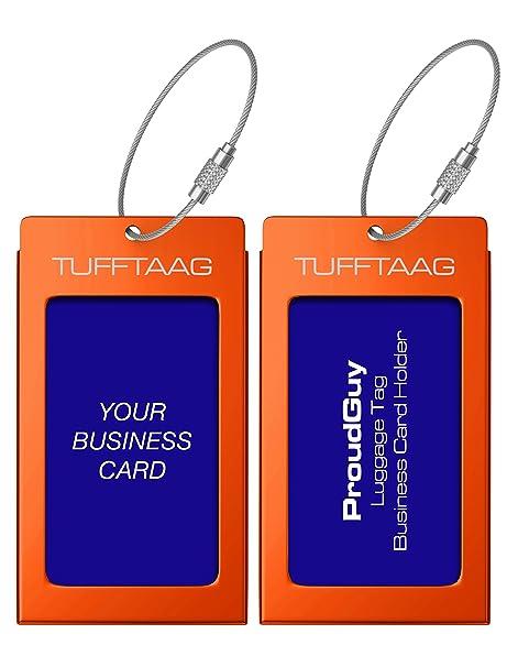 Luggage tags business card holder tufftaag pair travel id bag tag luggage tags business card holder tufftaag pair travel id bag tag deep amber reheart Choice Image