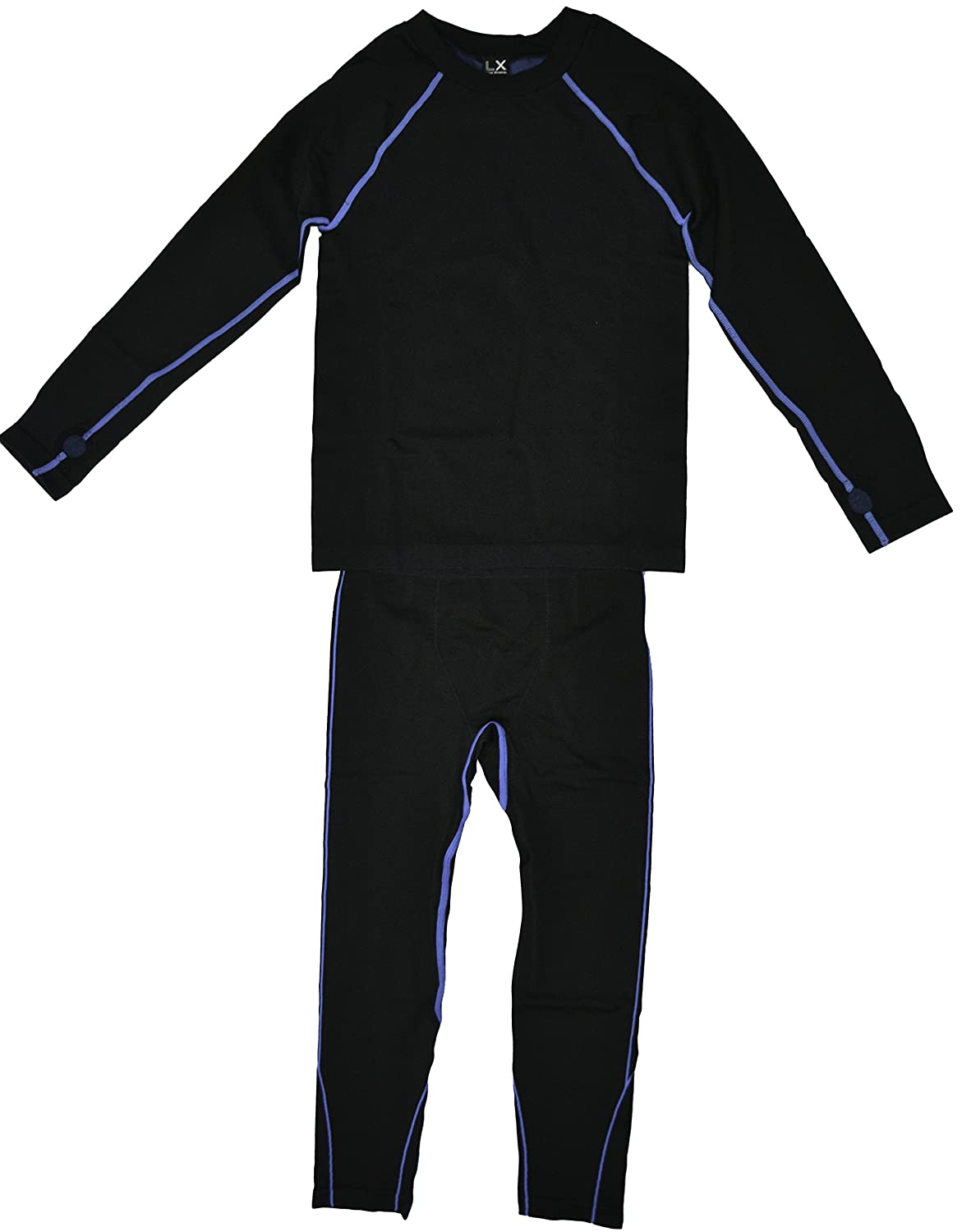LX Live Xtreme Boys 2PC Base Layer Top and Bottom Set Black (M 8/10)