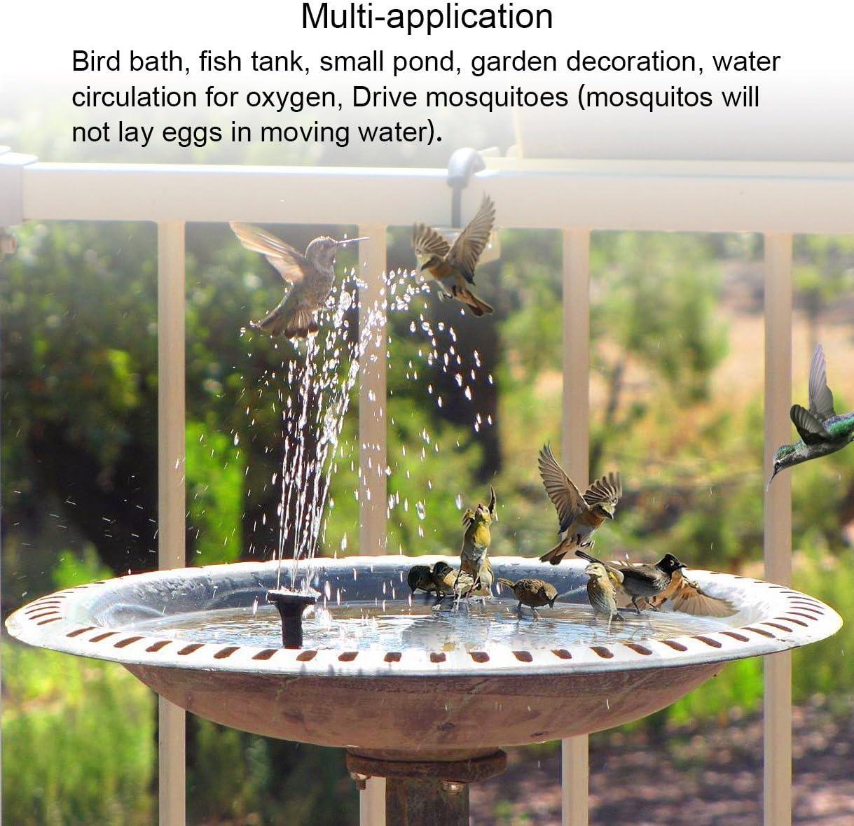 Pompe Fontaine Flottante pour Birdbaths ou Les /étangs mxdmai Fontaine Solaire Pompe 1.4W Cercle de Jardin Solaire Pompe /à Eau Solaire de Pompe /à Eau Birdbath Support Non fournis