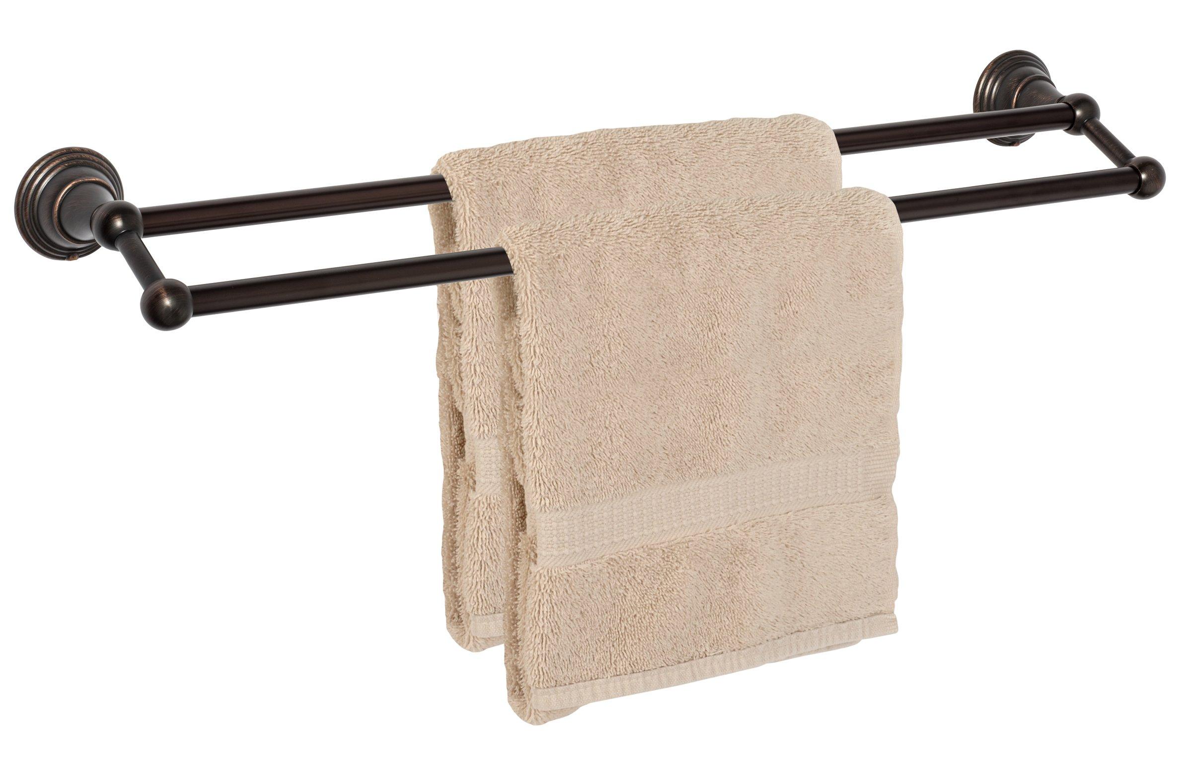 Dynasty Hardware 2216-ORB Muirfield 24'' Double Towel Bar Oil Rubbed Bronze