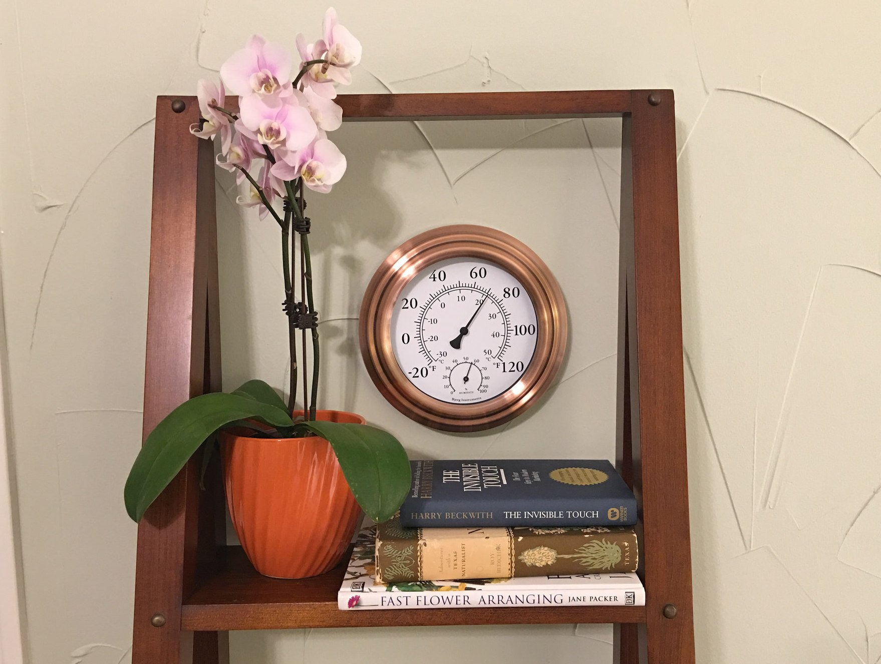 8'' Antique Copper Finish Decorative Indoor / Outdoor Thermometer and Hygrometer by Bjerg Instruments (Image #4)