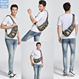 Nicgid Sling Bag Chest Shoulder Backpack Fanny Pack Crossbody Bags for Men