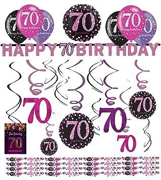 Unbekannt Decoración de cumpleaños Deco Set Sparkling Pink ...