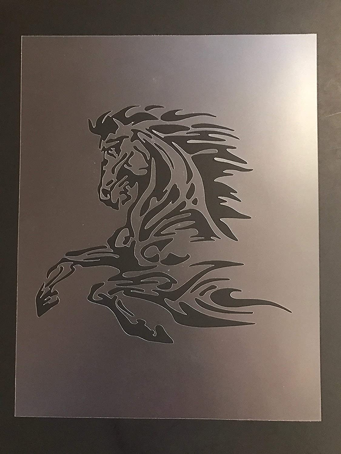 Horse Stencil #1 Reusable 10 mil Thick 8in x 10.5in sheet
