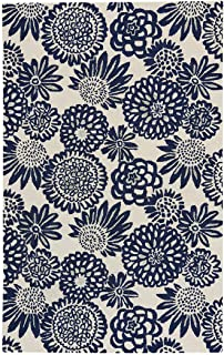 """product image for Capel Pompon Dk. Blue 8' 0"""" x 10' 0"""" Rectangle Hand Tufted Rug"""