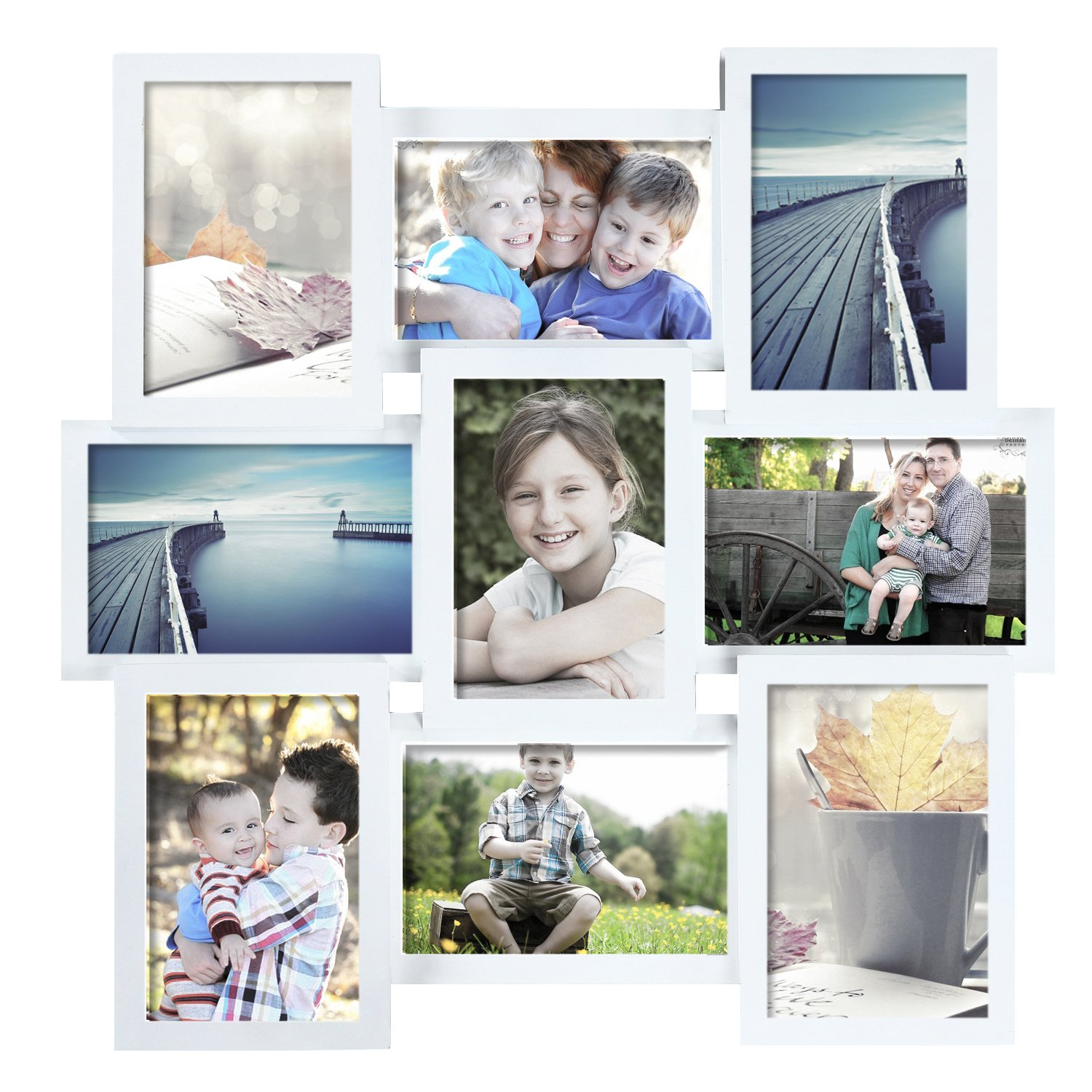 Decent Home 17.9'' x 17.7'' Wood Picture Frame/Photo Frame- Made to Display 4''x6''9 Photos - Ready to Hang by Decent Home