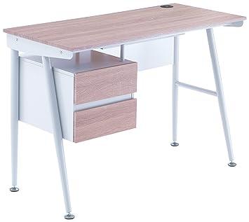 new arrival 4f1ef 0d97b Tomasucci up-h Computer Desk Set, Wood, white, 50 x 75 x 110 ...