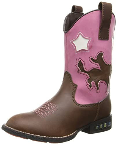 0cfe4064452 Roper Star Rider R Toe Light Up Cowgirl Boot (Toddler/Little Kid)