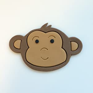 Baby Monkey Face Cookie Cutter Set (3 inches)
