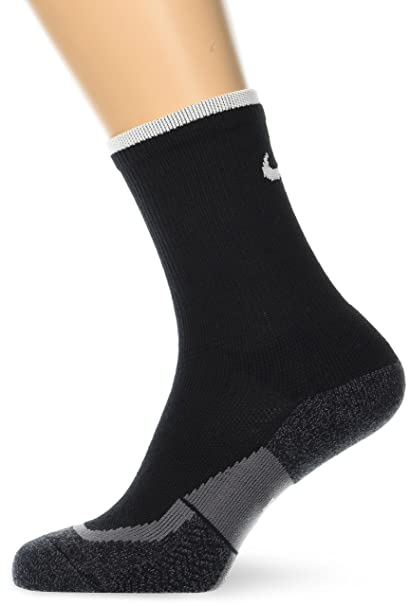 Nike Unisex Elite Crew Tennis Sock (Black/White/White, X-Small