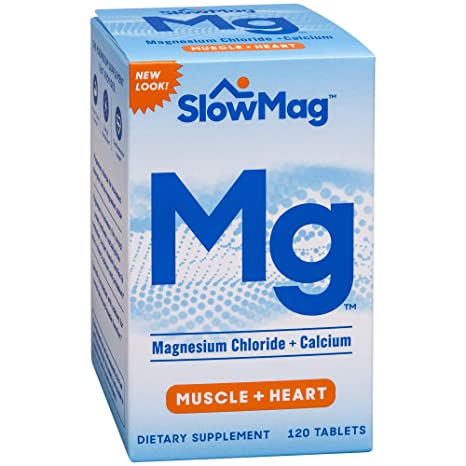 Amazon.com: SlowMag Mg Muscle + Heart Magnesium Chloride with Calcium Tablets 120 Count: Health & Personal Care