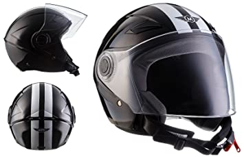 MOTO U52 Racing Black · Urban Vespa Moto motocicleta Scooter Mofa Cruiser Helmet Casco Demi-