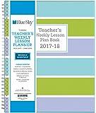 "Blue Sky 2017-2018 Academic Year Teachers Plan Book, Twin-Wire Bound, Stripe Cover, 8.5"" x 11"""