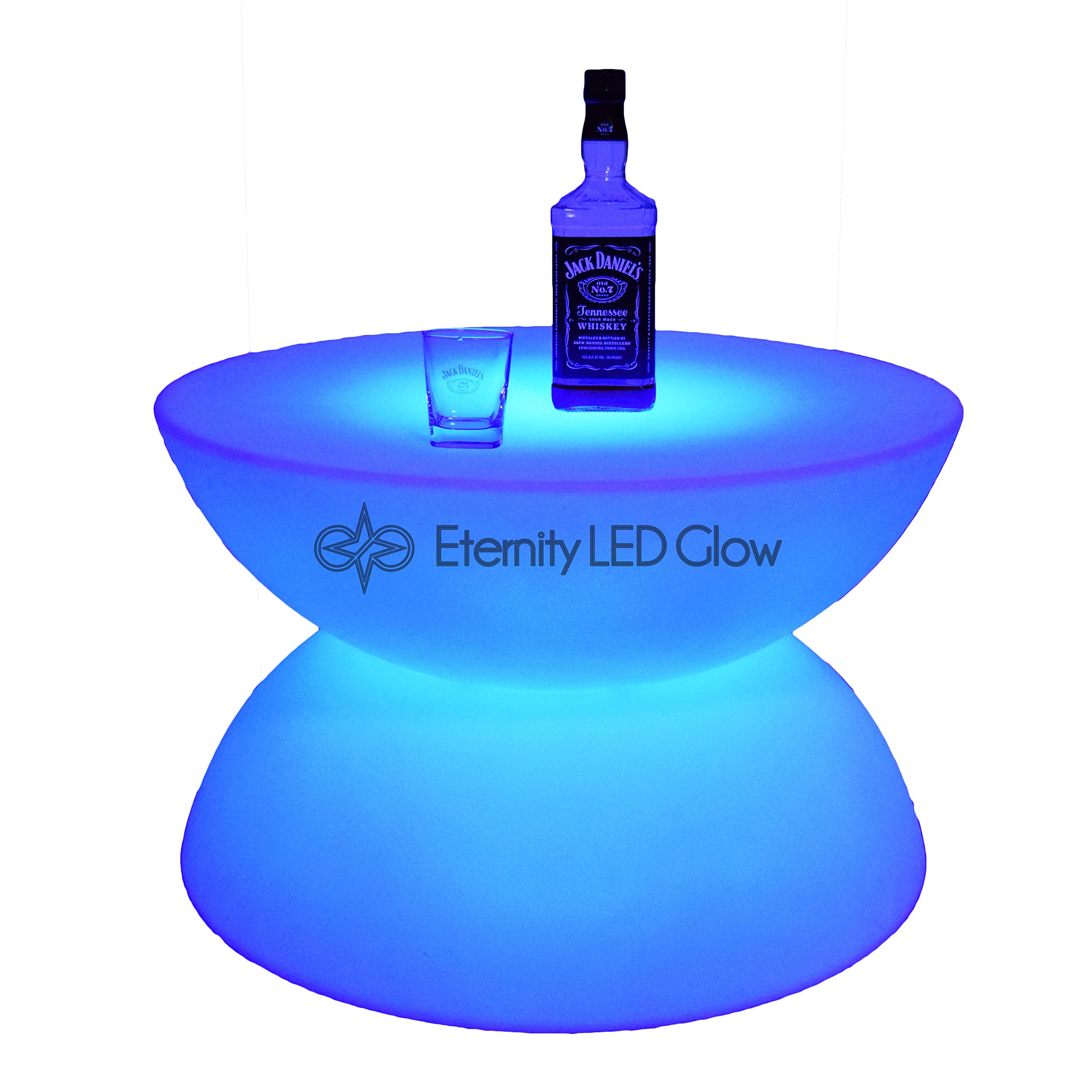 Light up glow Table - LED Coffee Table 24'' - LED furniture table Waterproof for Outdoor / Indoor - LED lounge small table night club table