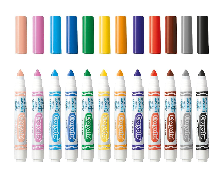 Crayola 58-8329 - Marcadores (12 Unidades), Punta Fina: Amazon.es ...