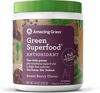 product image for Amazing Grass Green Superfood Antioxidant: Super Greens Powder with Spirulina, Elderberry, Bilberry & Probiotics, Sweet Berry, 30 Servings
