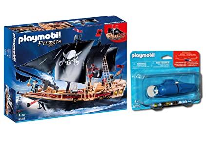 Outletdelocio.. Playmobil 6678. Buque Corsario con Motor Submarino Incluido. Navega de Verdad por el Agua: Amazon.es: Juguetes y juegos