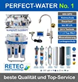Osmoseanlage 600 GPD Perfect Water No. 1 Ultimate Plus PRO 2019 Direct Flow kein Tank nötig Umkehrosmosewasserfilter Wasserfilter Trinkwasser Umkehrosmose Reverse Osmosis