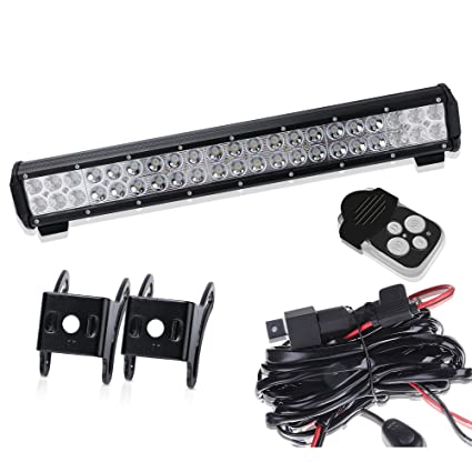 Amazon turbosii 20inch led light bar on front rear bumper brush turbosii 20inch led light bar on front rear bumper brush bull bar grille reverse trails lights aloadofball Image collections