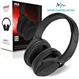 Bluetooth Active Noise Canceling Headphones - Wireless Over-Ear Audio Streaming & Call Microphone - Travel Collapsible & Rechargeable Battery - Extreme Sound Isolation for Airplane - Pyle PBTNC50