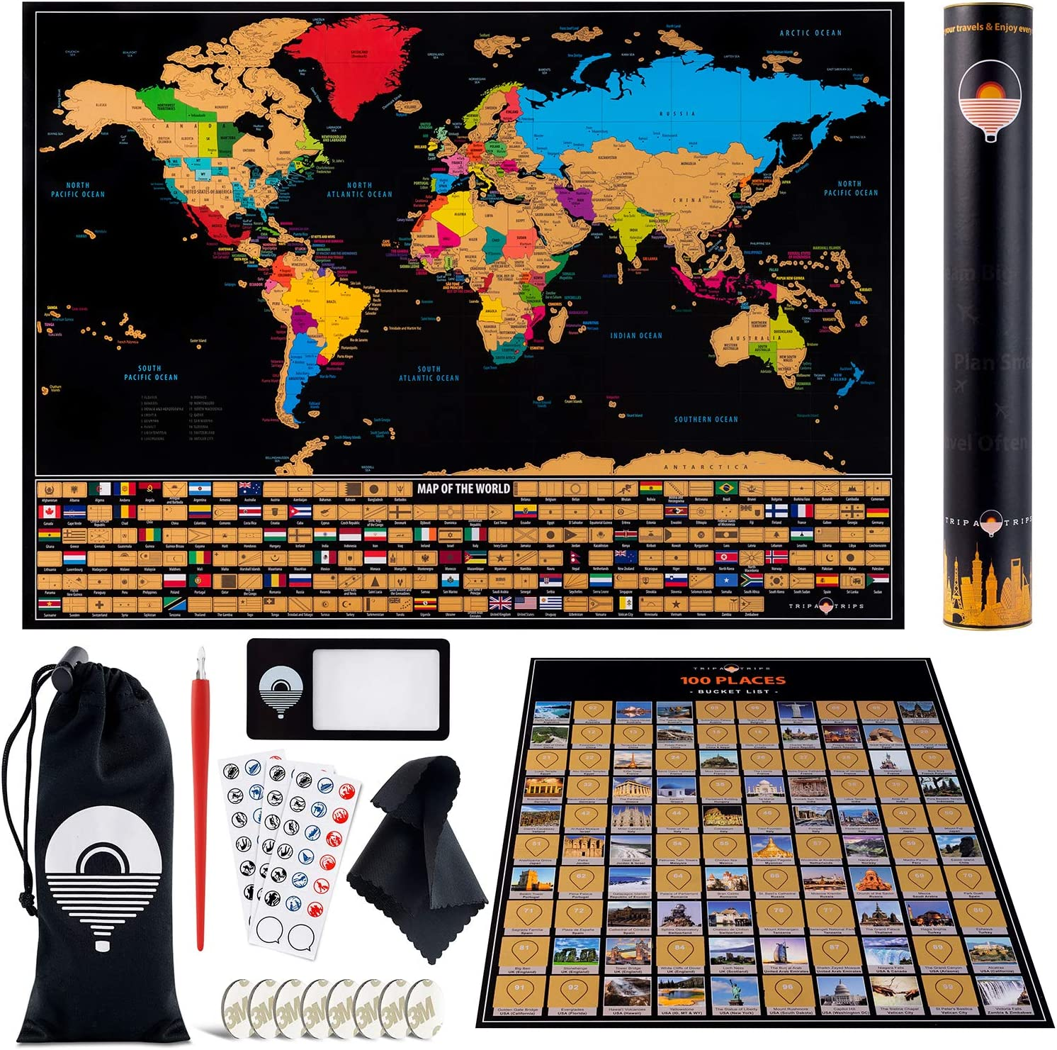 Free Amazon Promo Code 2020 for Scratch Off Map of The World with States and Flags