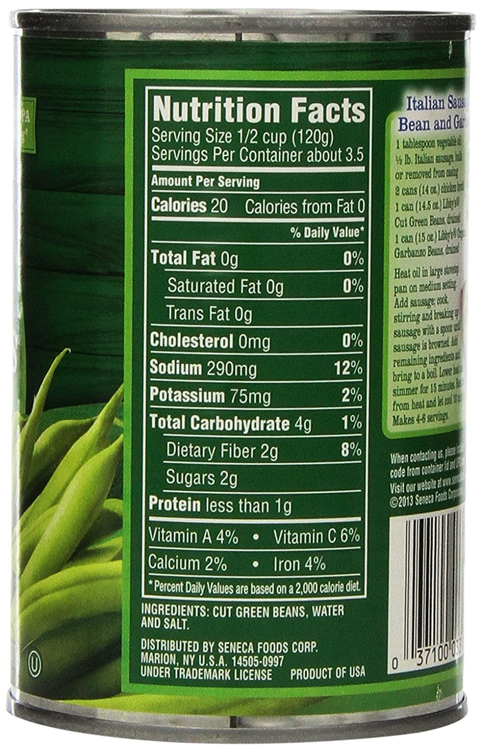 Libby's Cut Green Beans, 14 5-Ounce Cans (Pack of 12)