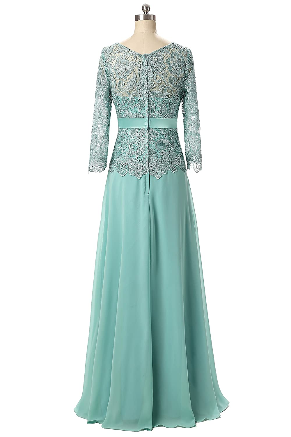 Butmoon Women\'s Chiffon and Lace Long Mother of The Bride Dresses at ...