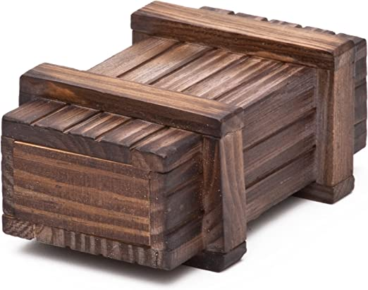 Caja regalo mágica de madera oscura - El original – Juego de ...