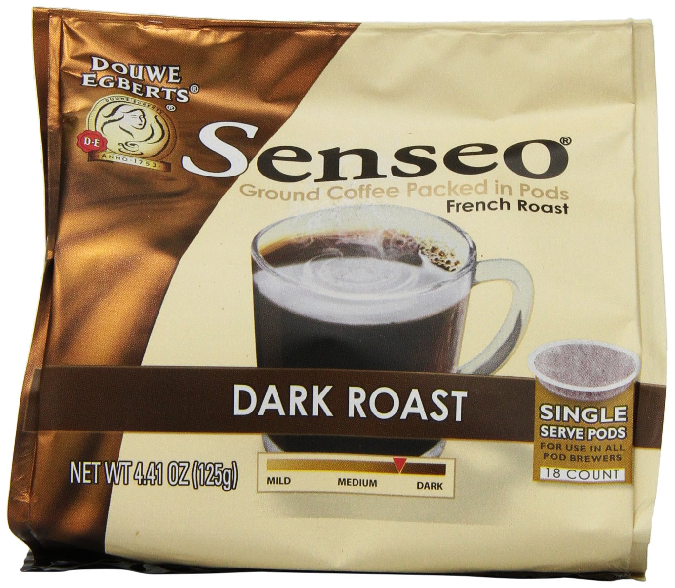 amazoncom senseo dark roast coffee pods 441 ounce 18count pods pack of 4 grocery u0026 gourmet food