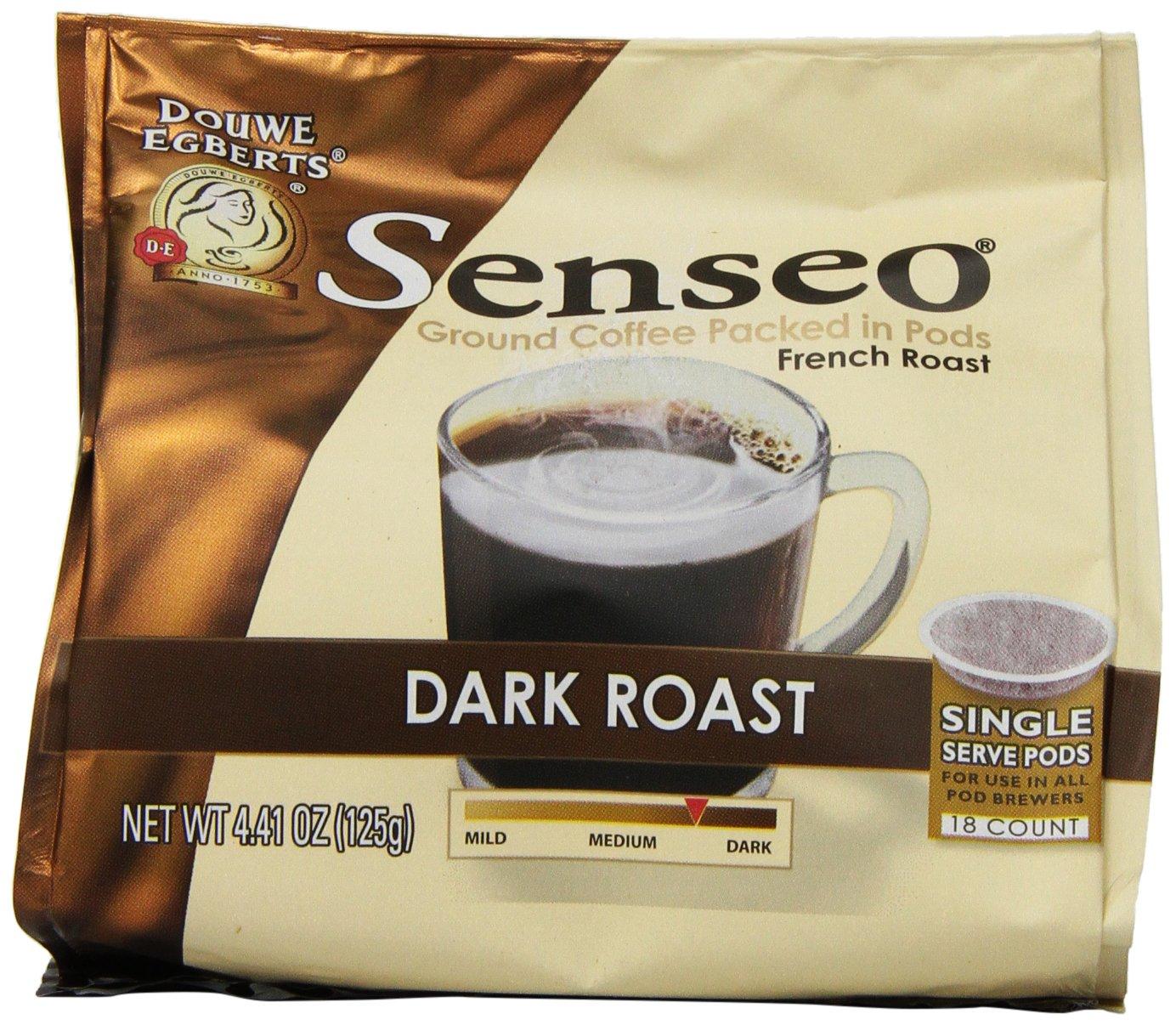 senseo dark roast coffee pods 441 ounce 18count pods pack of 4 amazoncom grocery u0026 gourmet food