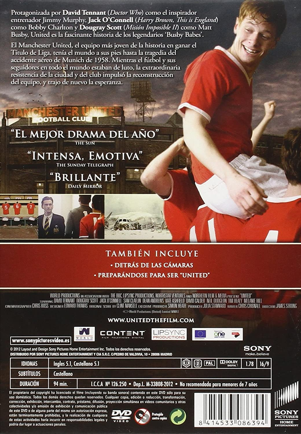 Amazon.com: United (2011) (United: The Legend Of The Busby Babes)  [ NON-USA FORMAT, PAL, Reg.2 Import - Spain ]: Kate Ashfield, Tim Healy, Dougray Scott, ...