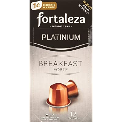Café Fortaleza - Cápsulas De Aluminio Café Breakfast Forte Compatibles Con Nespresso - Pack 5 X 10 - Total 50 Cápsulas