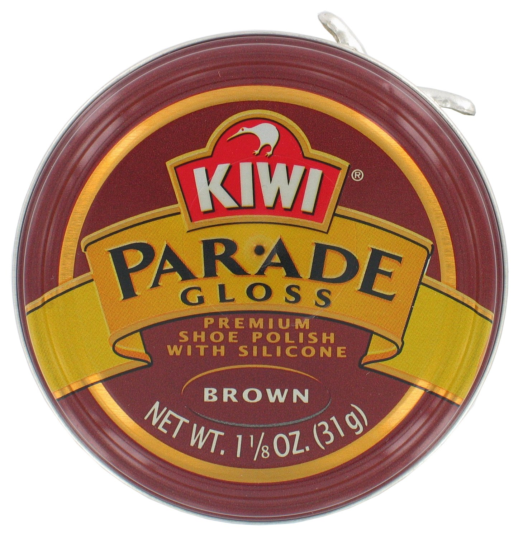 Kiwi 10313 1-1 / 8 Oz Lustrabotas Premium Brillo Marrón Con