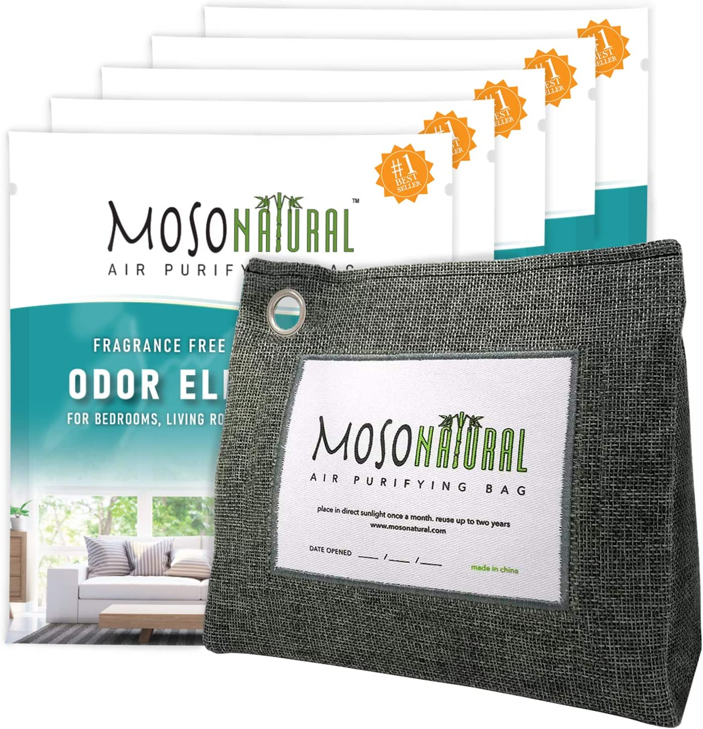 8 Pack Bamboo Moso Natural Fresh Air Purifying Bags Activated Charcoal Mold Odor