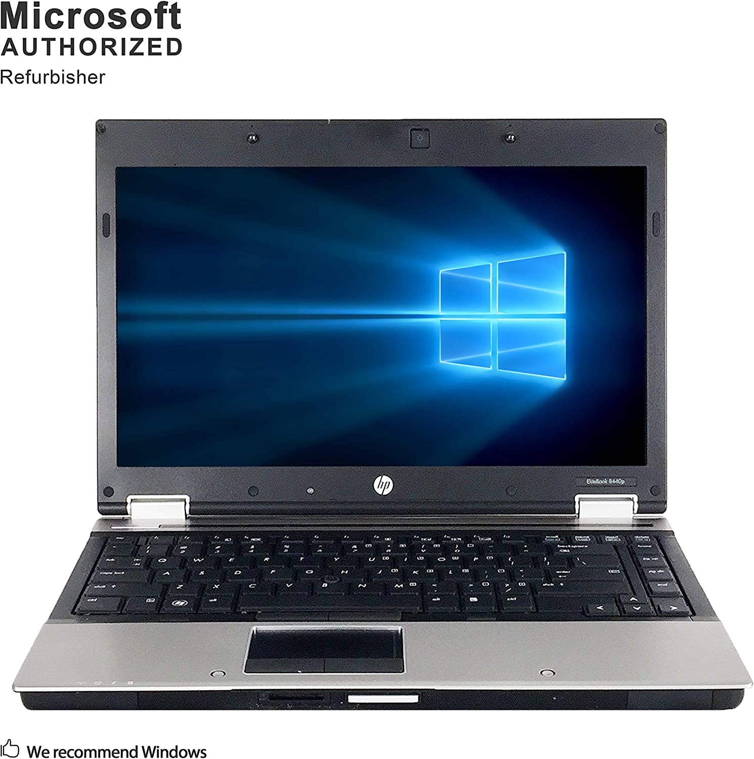 HP EliteBook 8440p 14 Inch Business Laptop, Intel Core i5 520M up to 2.93GHz, 4G DDR3, 320G, WiFi, DVD, VGA, DP, Windows 10 64 Bit-Multi-Language Supports English/Spanish/French(Renewed)