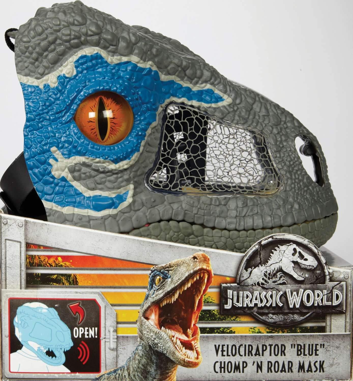 Jurassic World Chomp 'n Roar Mask Velociraptor ''blue'' by Jurassic World Toys (Image #7)