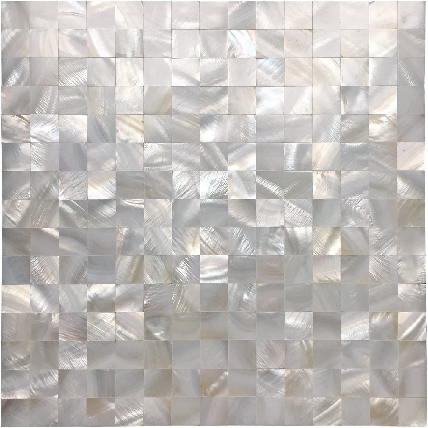 Art3d White Seamless Mother Of Pearl Tile Shell Mosaic For Bathroom Kitchen Backsplashes 10 Sheets Amazon Com